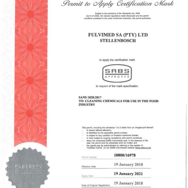 SABS Certifcation